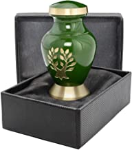 (1 Keepsake Urn) - Tree of Life Small Mini Keepsake Urn For Human Ashes - Qnty 1