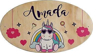 Decoración de la puerta de madera para la habitación de un niño - El nombre de la placa de madera es personalizable - regalo de nacimiento personalizado - decoración para niños y bebés - Pq Porte 15