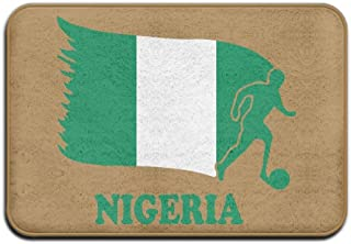 Han Jun Hua Hello Bath Mat Doormat Nigeria Football Soccer Flag Skid Resistance Welcome Doormat Bath Rug,Front Door/Bathroom Mats Door Mat