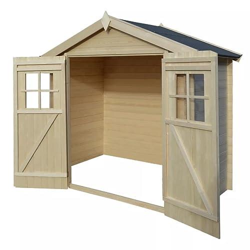 Festnight Caseta de exterior para el jardín 2x1m de madera 19mm