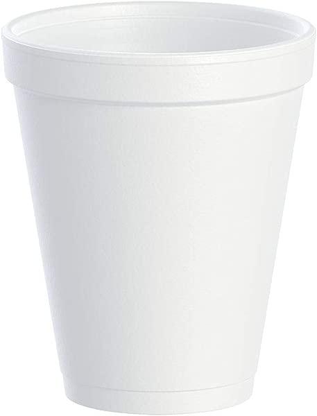 Dart DRC10J10 Styrofoam Insulated Foam Cups 10 Oz Carton Of 1000 40 Packs Of 25 Cups