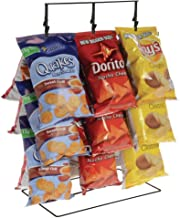 Potato Chip Rack - 3 Rows, 36 Clips, Black, 14 1/2