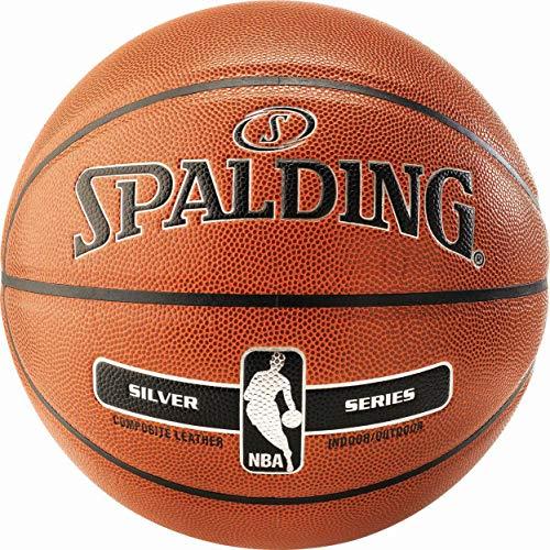 Spalding Basketball Ball Silver für Indoor u. Outdoor Größe 7 + Ballpumpe