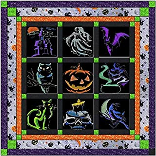 Quilt Kit Halloween Shadow/Pre Cut Ready to Sew/Finished Embroidery