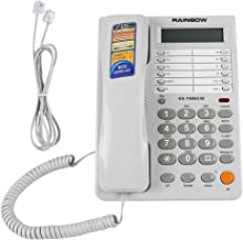 fosa Telephone Wire, Corded Phone Caller ID Display Landline Wired Home Office Fixed Telephone Wall Phone No Battery DTMF/FSK Dual System Caller ID/Call Waiting Speakerphone