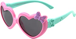 CGID Soft Rubber Kids Cute Heart Polarized Sunglasses...