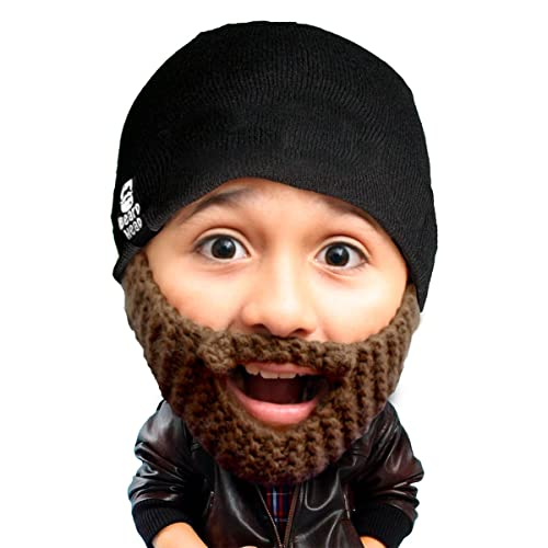 697450919c072 Beard Head Kid Populous Beard Beanie - Knit Hat and Fake Beard for Kids  Toddlers