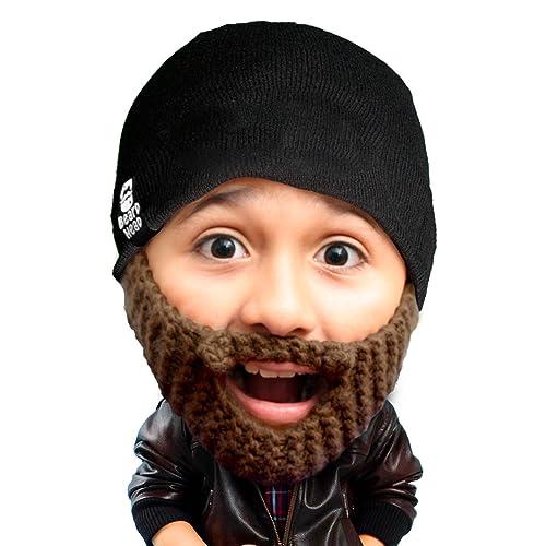 Beard Head Kid Populous Beard Beanie - Knit Hat and Fake Beard for Kids  Toddlers d32482d8889