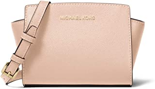 Michael Kors Selma Mini Saffiano Leather Crossbody - Soft Pink