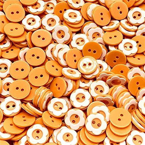 GIVO 50 Unids/Lote 12 Mm Formas de Cuentas de Botón 2 Agujeros Artesanía de Costura Accesorios de Ropa