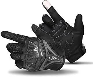 DragonPad Cycling Gloves Full Fingers Protective Gloves Touch Screen for Motorcycle and Bicycle Riding Black M