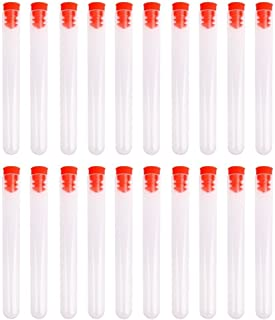PUL FACTORY 15ml Hard Plastic Test Tube with Cap, 16x150mm,Pack of 20