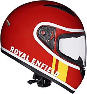 Royal Enfield Redditch Red Full Face With Visor Helmet Size (L)60 CM (RRGHEJ000014)