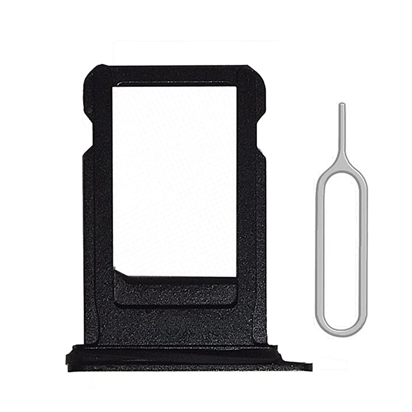 Afeax Space Grey Black SIM Card Tray Holder Replacement for iPhone 8 4.7