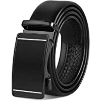 Vbiger Men's Leather Dress Belt with Automatic Buckle