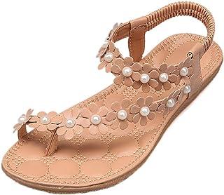 new style 2b037 57e5e LUCKYCAT Amazon, Sandales d été Femme Chaussures de Été Sandales à Talons Chaussures  Plates