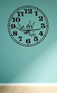 Wall Clock Bug Giggle Wall Decals Stickers, Black, 72