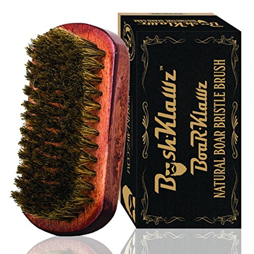 BoarKlawz 100% Natural Boar Bristles for Easy Grooming - Facial Care Hair Comb for Beards Mustaches...