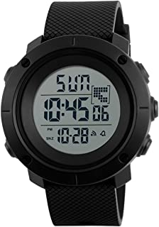 Boys Watch Digital Sports Waterproof Military Back Light Teenager Watch Black (Age for 15-20)