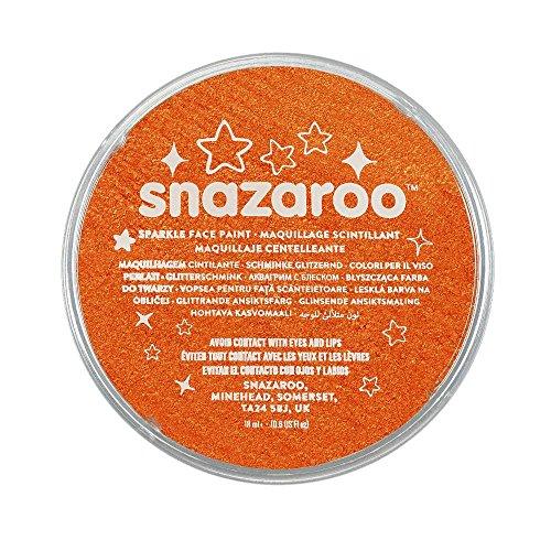 Snazaroo- Pintura facial y Corporal, 18 ml, Color naranja centelleante (Colart 1118531)