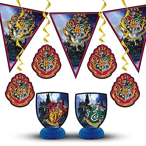 Unique Party 59081 Kit de Decoración de Harry Potter Conjunto de 7, Multicolor, Talla Única