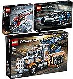 BRICKCOMPLETE Lego Technic 42128 42123 McLarenSenna GTR & 42092 - Juego de 3 camionetas de remolque