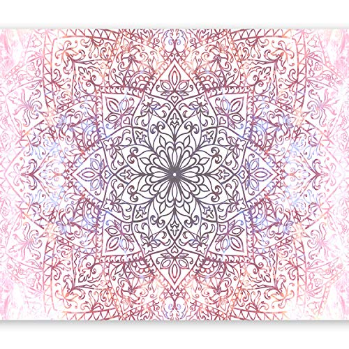 murando Fototapete Mandala 350x256 cm Vlies Tapeten Wandtapete XXL Moderne Wanddeko Design Wand Dekoration Wohnzimmer Schlafzimmer Büro Flur Abstrakt Orient Zen f-C-0131-a-d