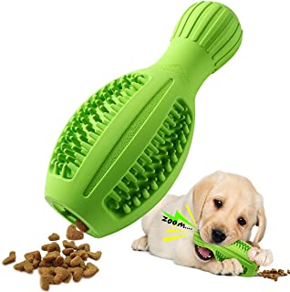 Dog Chew Toys, Small/ Medium Dog Toys for Aggressive Chewers, 4 in 1 Interactive Squeaky Dog Teeth Cleaning Toys, Indestru...