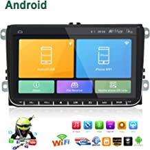 Double Din Car Stereo,Android 6.0 Radio for VW Passat Golf MK5 MK6 Jetta T5 EOS Polo Touran Seat Sharan 1G DDR3 + 16G NAND Memory Flash 9 Inch Touch Screen with GPS Navigation Bluetooth USB Player