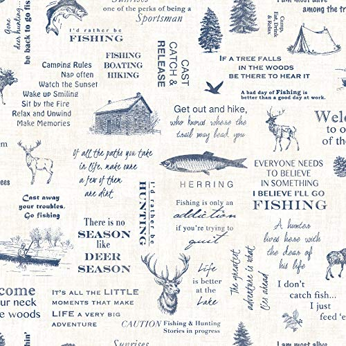 Chesapeake 3118-01474 North Hills Navy Camping Quotes Wallpaper