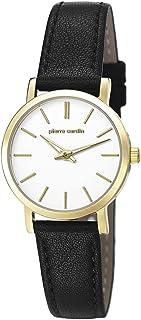 Pierre Cardin Womens Analogue Classic Quartz Watch with Leather Strap PC106632F03 (Weiß/Gold/Schwarz)