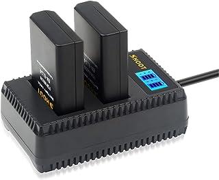 SHOOT Baterías EN-EL14 EN-EL14a de Repuesto (2-Pack) con Cargador Inteligete Pantalla LCD para Nikon P7000 P7100 P7700 P7800 D3100 D3200 D3300 D3500 D5100 D5200 D5300D5500 Cámara