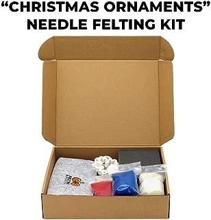 DIY Needle Felting Starter Kit Christmas Ornaments Decoration - Needle Felting for Beginners – Gift Craft Kit – Felting Kits for Adults - for Kids – for Girls – for Women - Felting Supplies Store