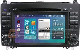Android 10 Auto GPS Navigation Bluetooth 2 Din Auto Multimedia System mit 7 Zoll Touchscreen Spiegel Link WiFi Radio Passt für Mercedes Benz A W169 B W245 V W639 W906 Sprinter VW Crafter