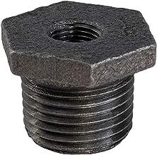 """Everflow Supplies BMBU0121 1/2"""" x 1/4"""" czarna złączka tulejowa z żeliwa ciągliwego z sześciokątną głowicą"""