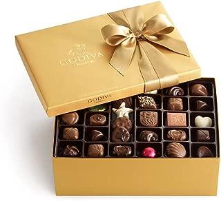Godiva Chocolatier Classic Gold Ballotin Candy, Chocolate Variety Holiday Gift Box, 105 Count