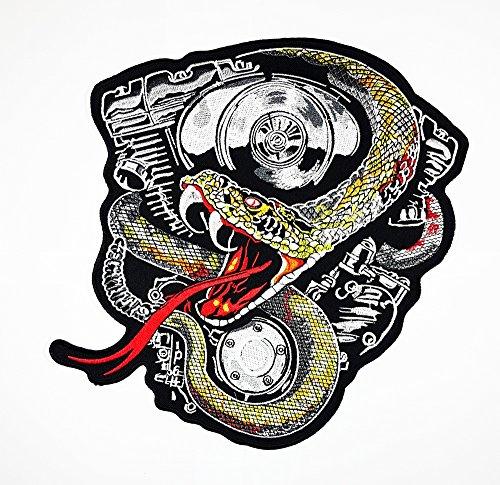 Big cascabel Biker Motocicleta Cafe Racer, chaleco/chaqueta motorista parche adhesivo decorativo para moto Rider Biker chaqueta camiseta parche coser hierro en bordados insignia Sign