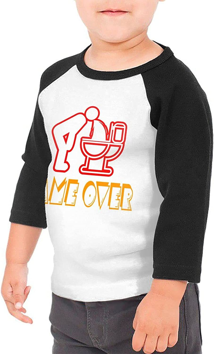 Alcohol Beer Game Over T-Shirts Novelty for Girls Tees with Cool Designs