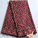 African Swiss Voile Spitze Stoff Baumwolle Stoff rot