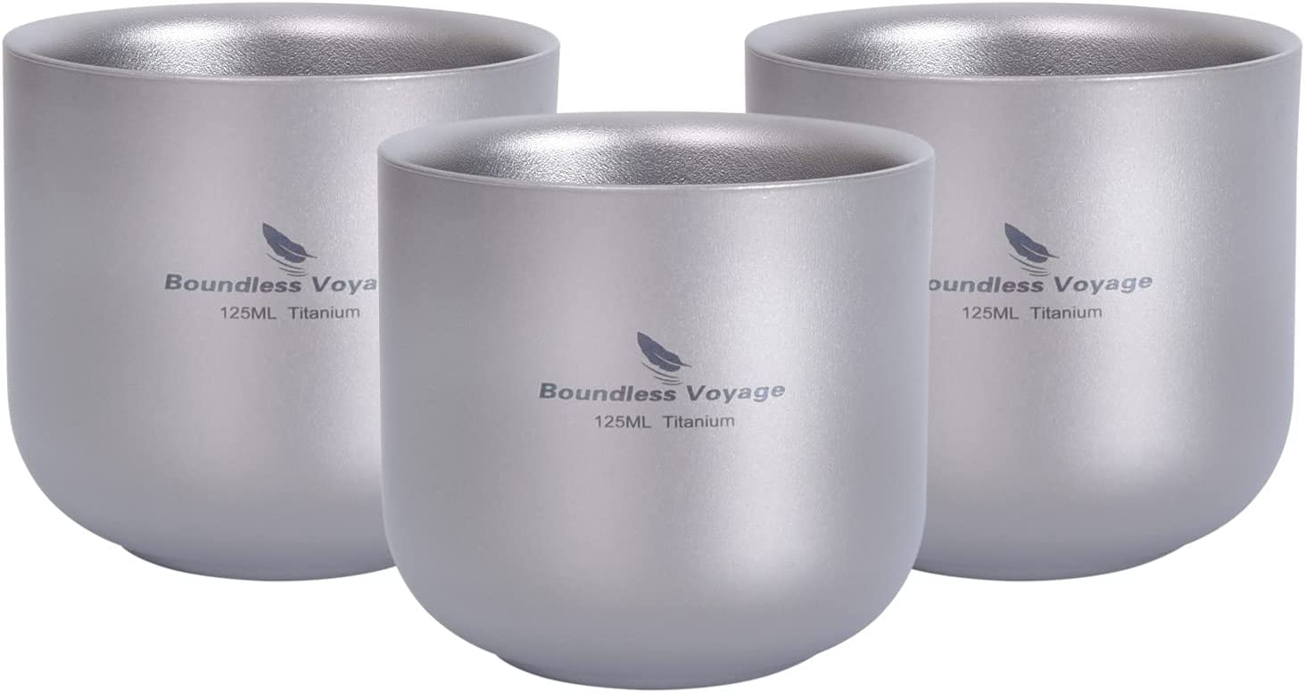 Chicago Mall Boundless Voyage 125ml New arrival Titanium Cup Design Beverage Double-Layer