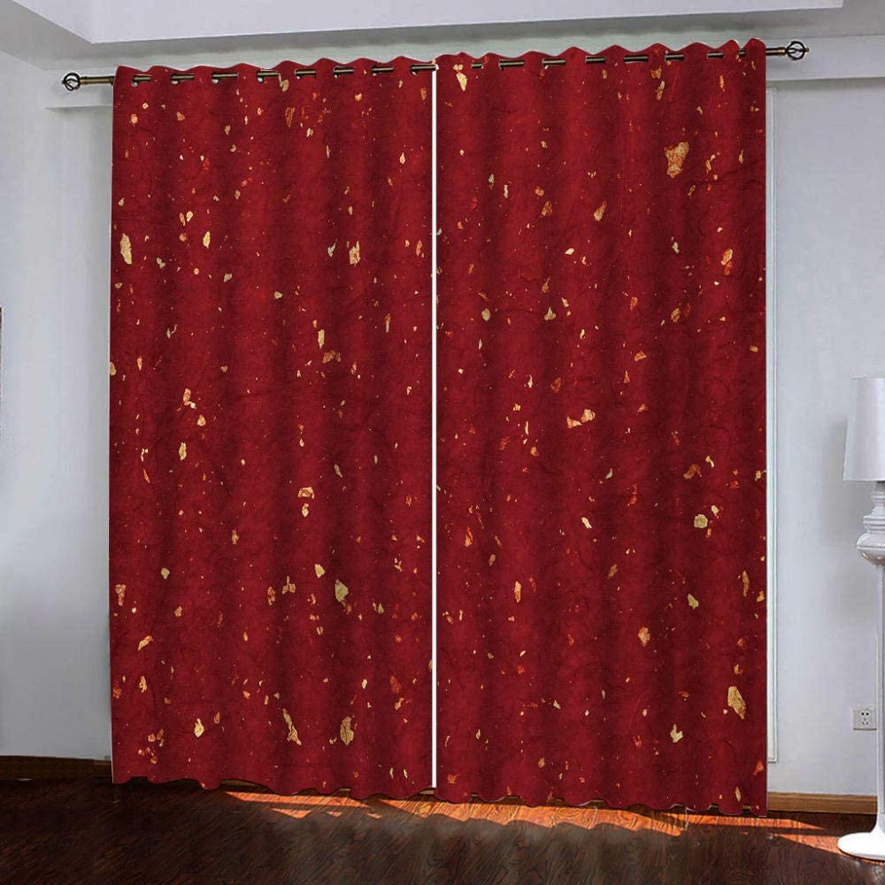 Selling rankings Blackout mart Curtain Set,Golden Pattern Grommet T Privacy Total