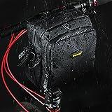 rhinowalk Bike Lenkertasche wasserdicht Stoff Hohe Kapazität 2in 1Front Pack für Falt Tasche Road Bike, mattes schwarz - 6