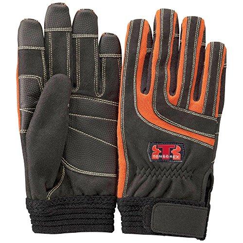 TONBOREX(トンボレックス) レスキューグローブ ケプラー手袋 K-512R ブラック×オレンジ Mサイズ