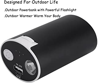 Ewarmer Outdoor Power Bank 10000mAh/Outdoor Hand Warmers with Powerful LED Flashlight, Rechargeable Powerbank for Outdoor Life, 10000mah Portable USB Powerbank/Outdoor Warmer for Phone