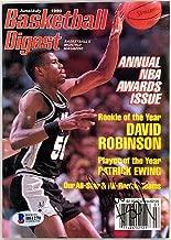 David Robinson Signed Basketball Digest Magazine San Antonio Spurs - Beckett Authentication