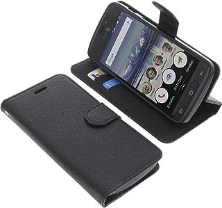 TienJueShi Marron Retro Premium Funci/ón de Soporte Funda Caso Tel/éfono Case para Doro Secure 580IUP Carcasa Proteccion Cuero Cover Etui