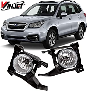 Winjet WJ30-0611-09 OEM Series for [2017-2018 Subaru Forester] Clear Lens Driving Fog Lights + Switch + Wiring Kit