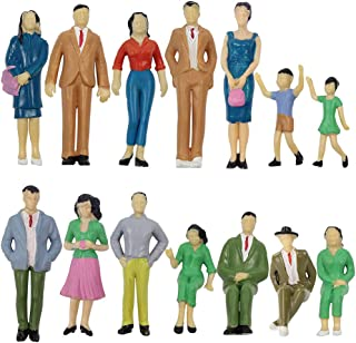 P2501 Model Trains Architectural 1:25 Scale Painted Figures Scale G Sitting and Standing People Model Railway Layout New (...