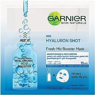 Garnier Skin Naturals, Fresh Mix, Face Serum Sheet Mask (Blue), 33 g