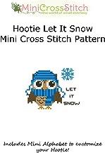 Hootie Let It Snow Mini Cross Stitch Pattern